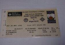 Bath v Wigan v 21st May 1996 Cross Code Rugby Challenge @ Twickenham, Ticket