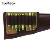 Tourbon Canvas Rifle Butt Stock Shell Holder Gun Ammo Cartridges Pouch Hunting