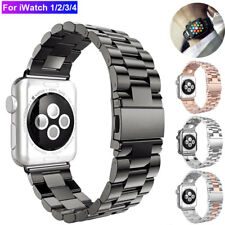 Para Apple Watch Reloj Correa de banda de acero inoxidable 5/4/3/2 iWatch Pulsera 38/40/42/44mm