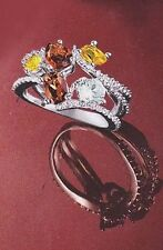 Avon Spice Market Ring, Size 6, Silvertone Smoky Topaz New