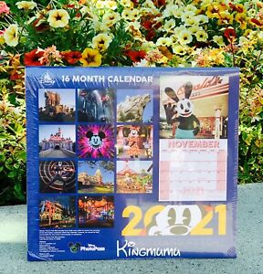 Disneyland Disney California Adventure DCA Mickey 16 Months Calendar 2020- 2021