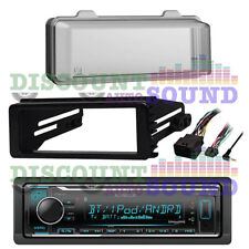 FLHX FLHTC FOR 98-13 HARLEY INSTALL KIT, BLUETOOTH USB AUX CAR RECEIVER, COVER