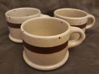3 Dansk International Designs Ltd Japan Stoneware speckled cups/mugs w/ markings