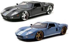 1:24 2005 Ford GT (Charcoal Grey / Pearl Blue) Jada BTK Diecast Model