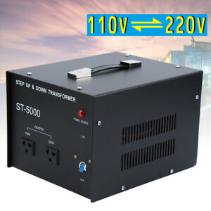 5000 Watt Step Up and Down Voltage Transformer Power Converter 110 to/from 220V