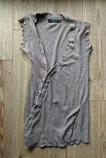 Quirky asymetrical grunge Vintage All Saints twist top waistcoat sz 6