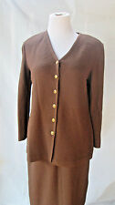 St John Collection Santana 2 Piece Brown Skirt & Jacket Size 4