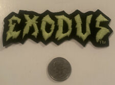 Vintage 1980's Exodus Logo Embroidered Patch By King Embroideries