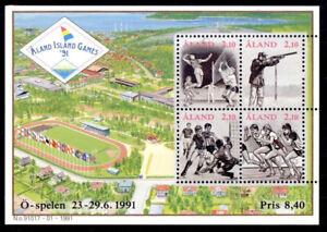 Aland 1991 Sport, Small Island Games, Football etc. Minisheet, MNH/UNM