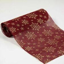 Christmas Table Runner Fabric Roll 5 Designs Available Christmas Dinner Decor