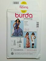 Burda Young #7547 Dress Fitted Sewing pattern Size 16 - 28 OOP UNCUT