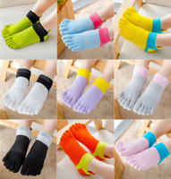Women Cotton Five Finger Toe Socks Lot Breathe Casual Sports Ankle Low Cut 5-9