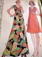 *LOVELY VTG 1970s DRESS Sewing Pattern 12/34