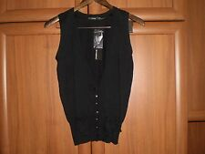 """Vest""""Atmosphere""""Black Size:10 (UK) Eur 38 New With Tags SALE"""