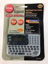Royal DM7070R Personal Organizer Translator English Spanish French Calculator FS