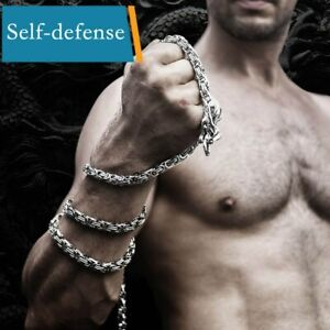 Self-defense Ninja Whip Dragon Bracelet Chain Titanium Steel Necklace Stainless