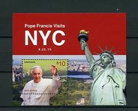 Grenada 2015 MNH Pope Francis NYC New York City 1v S/S Statue of Liberty Stamps