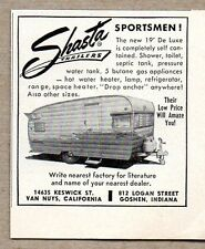 1960 Print Ad Shasta Sportsmen 19 Travel Trailers Made in USA