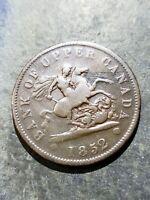 1852 Bank of Upper Canada 1/2 Penny Token #1217