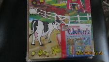 Wooden Cube  Puzzle Farm  Animals Construction Fish Snacks  Tools 6 pictures