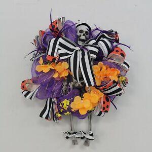 18 inch Witch Clown Skull Ghost Fall Wreath Door Garland Halloween Home Decor
