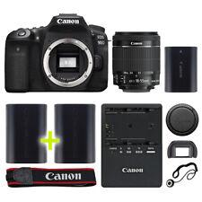 Canon 90D Digital SLR Camera with 18-55mm IS STM Lens + Backup Power Kit