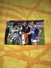 Diego Maradona Michel Platini Pele Photo Dedicace Autograph Football