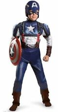 Marvel Captain America Muscle Costume w/ Communicator Disguise Boy L 10-12 NEW