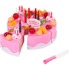 37Pcs Kitchen Cutting ToyS Birthday Cake Pretend Play Food Toy Set for Kids Girl