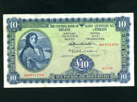 Ireland:P-66a,10 Pounds,1968 * Lady Hazel Lavery * VF *