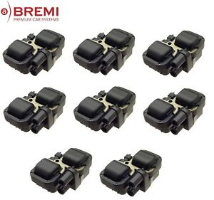 For Mercedes W163 ML430 Set of 8 Ignition Coils w/o Spark Plug Connector Bremi