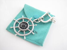 Tiffany & Co RARE VINTAGE Compass Nautical Wheel Key Ring Key Chain!