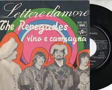 RENEGADES in ITALIANO disco 45 giri MADE in ITALY Lettere d'amore 1968