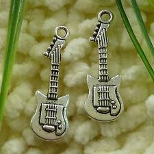 Free Ship 55 pieces tibetan silver guitar pendant 33x11mm #1262