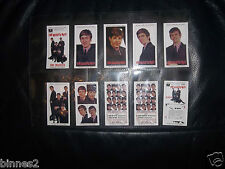 THE BEATLES HITS EP SERIES WARUS TRADING CARDS LIMITED EDITION SET OF TEN MINT