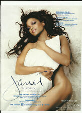 JANET JACKSON All For you TRADE AD POSTER for 2001 All For You CD MINT