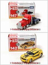 Dream Tomica Tomy Transformers Optimus Prime 147 & Bumblebee 142  Vehicles Set