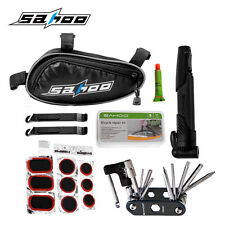 Bicycle Bike Cycle Repair Tool Set Kit with Frame Bag Pump Puncture Tyre Tire