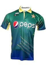 ICC Asia Cup 2016 Pakistan Cricket Team Official Jersey T-Shirt with All Logo