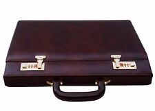 Clubb vintage genuine leather business hard case executive briefcase bag