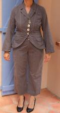 ensemble chic pantacourt et veste ONE STEP couleur gris T40/42 en parfait état