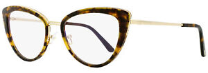Tom Ford Blue Block Eyeglasses TF5580B 056 Vintage Havana/Gold 55mm FT5580