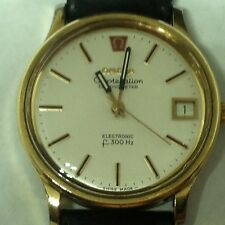 Vintage 1977 Omega Constellation Chronometer Electronic F300hz Watch Wristwatch