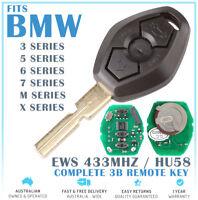 Fits BMW Remote Key 3 5 7 Series X3 Z3 Z4 X5 525 525i 325 325i 323i E38 E39 433M