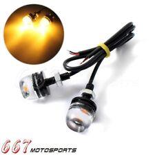 Car UTV ATV Amber LED Eagle Eye Daytime DRL Running License Plate Lights Lamp