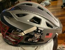 Cascade R Lacrosse Gray Helmet , Red Mask, White Chin strap - one size fits all