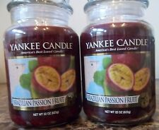 Yankee Candle  Brazilian Passion Fruit 22 oz. Lot of 2 NEW Candles Free Shipping