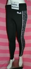 Victoria's Secret PINK Ultimate Leggings Black Leopard Gray Pants Logo XS,M NEW