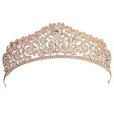 Wedding Bridal Rose Gold Crystal Rhinestone Pageant Tiara Crown Party Headb S2u0