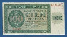 ESPAÑA // SPAIN -- 100 PESETAS ( 1936 ) -- MBC- // VF -- SERIE R -- PICK 101a .